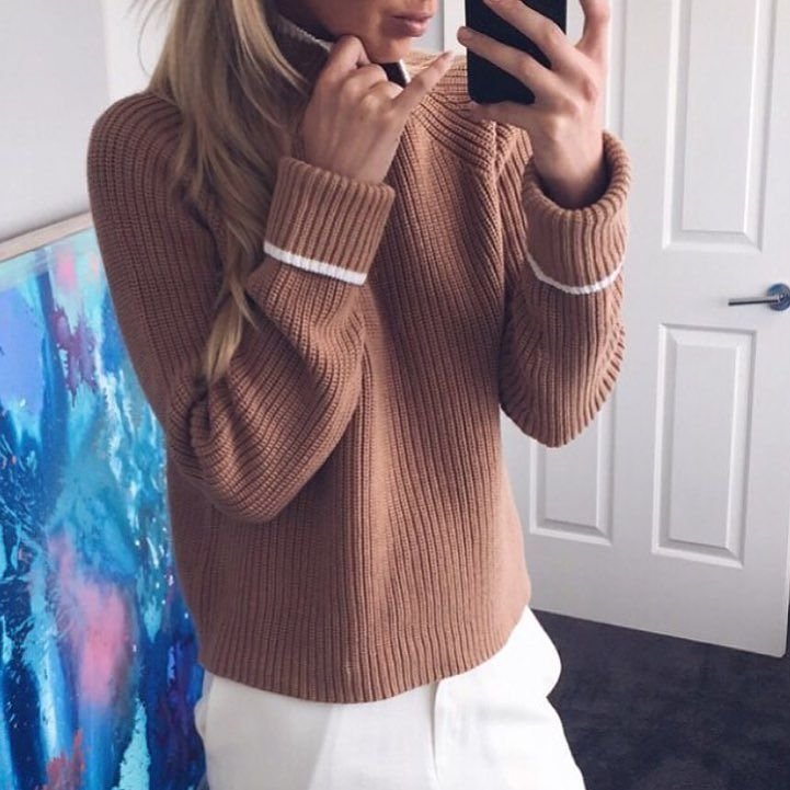 Lucky last and time to bring out for this cold weather! Shop the @viktoriaandwoods 'Galieo' Knit in Camel now in store & online at Lookbook   RG via @brooklynokeefe  #viktoriaandwoods #vikandwoods #lookbookboutique #knit #ontrend #trending #newarrivals #igers #inspo #selfie #winterfashion #shonajoy #shoppingonline