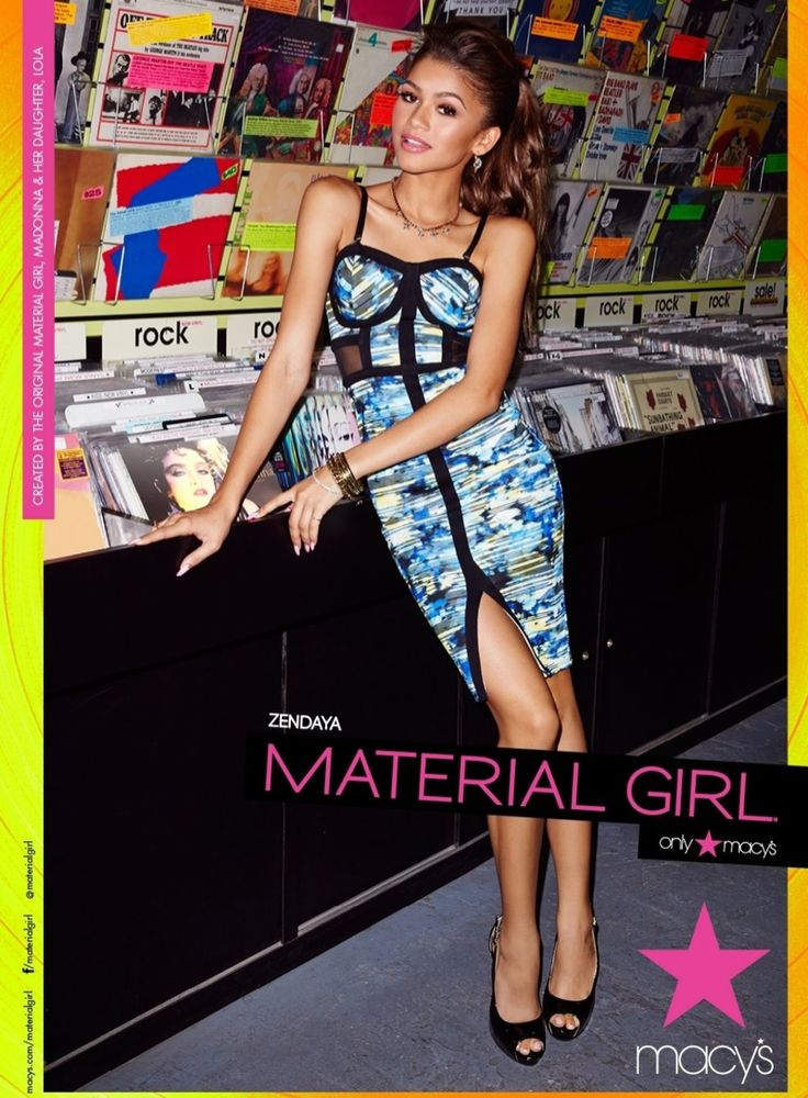 Zendaya Models for Madonna's Spring 2015 Material Girl Campaign