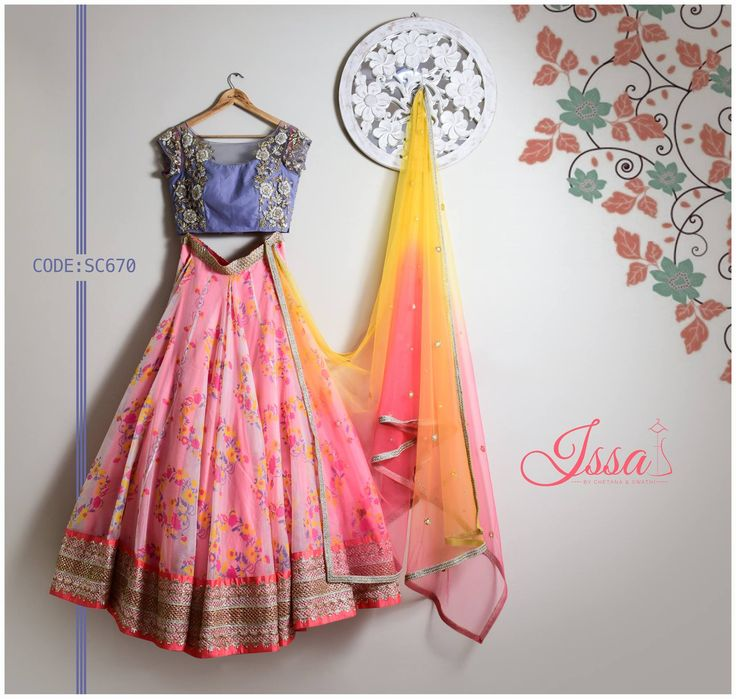 SC670 : Floral ensemble from Issa!!! To order please call/ WhatsApp on 9949944178 or mail us @issadesignerstudio@gmail.com 23 July 2016