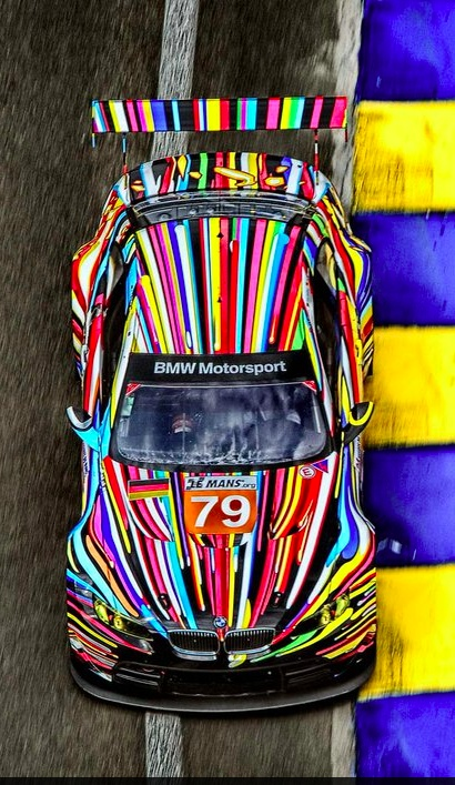 M3 GT2 painted by American artist Jeff Koons unveiled for the 24 hr Le Mans race