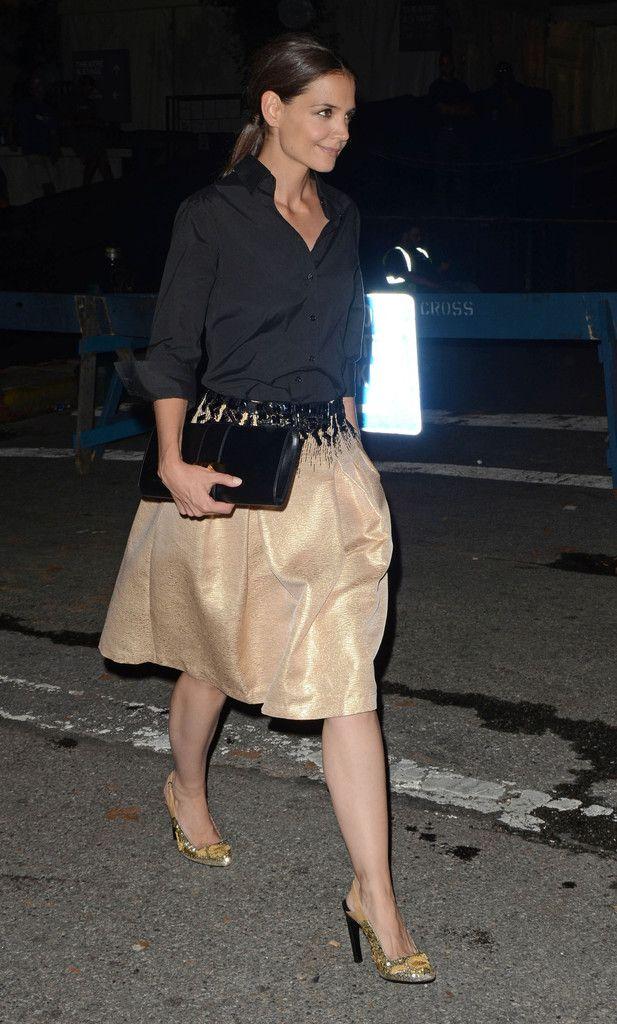 Katie Holmes in Carolina Herrera