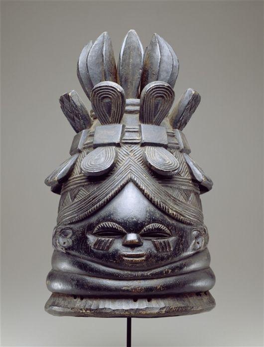 African Bundu mask