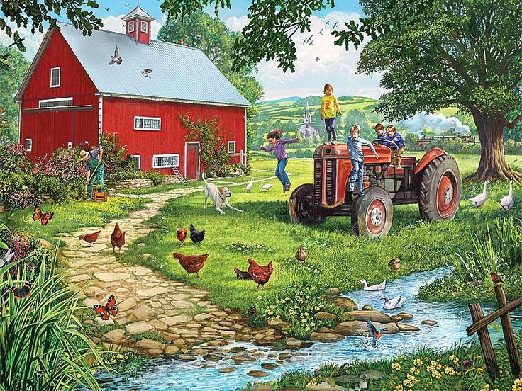 Собирать пазлы онлайн - Старый трактор