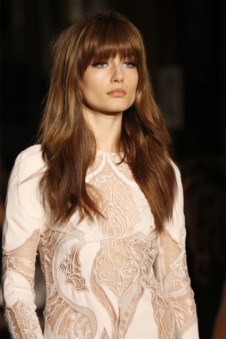 Her hair is the most perfect hair I've ever seen (Emilio Pucci  Fall Winter 2013-14)