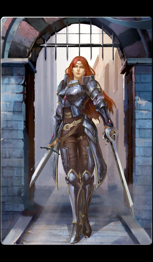 Human Female Fighter - Pathfinder PFRPG DND D&D d20 fantasy