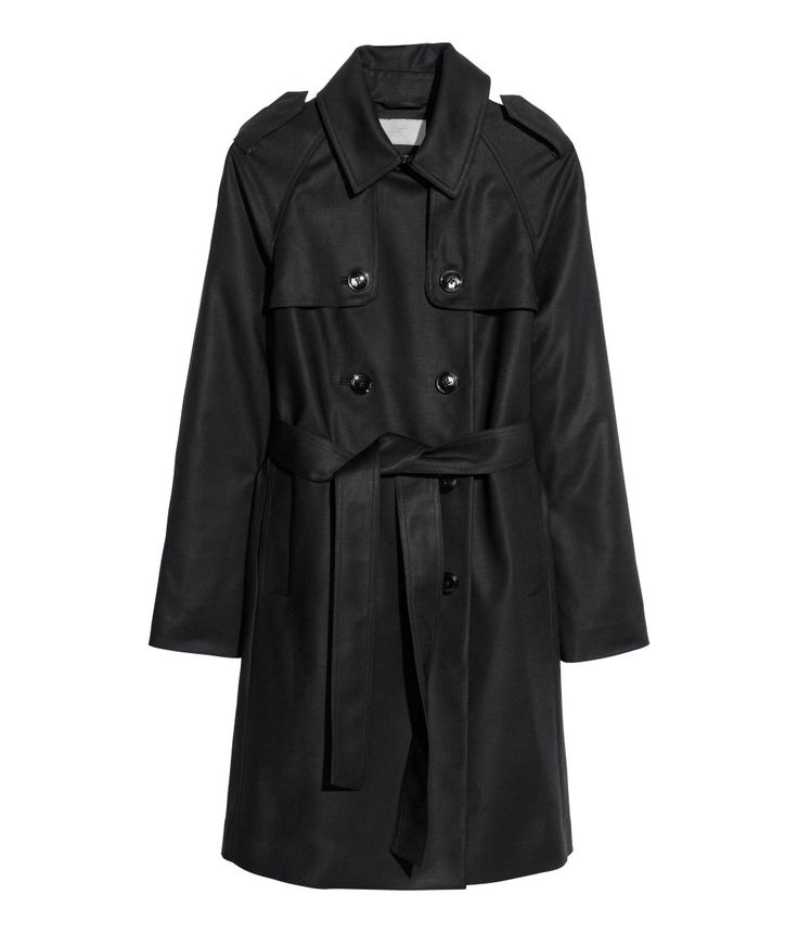 H&M the perfect affordable classic black trench coat