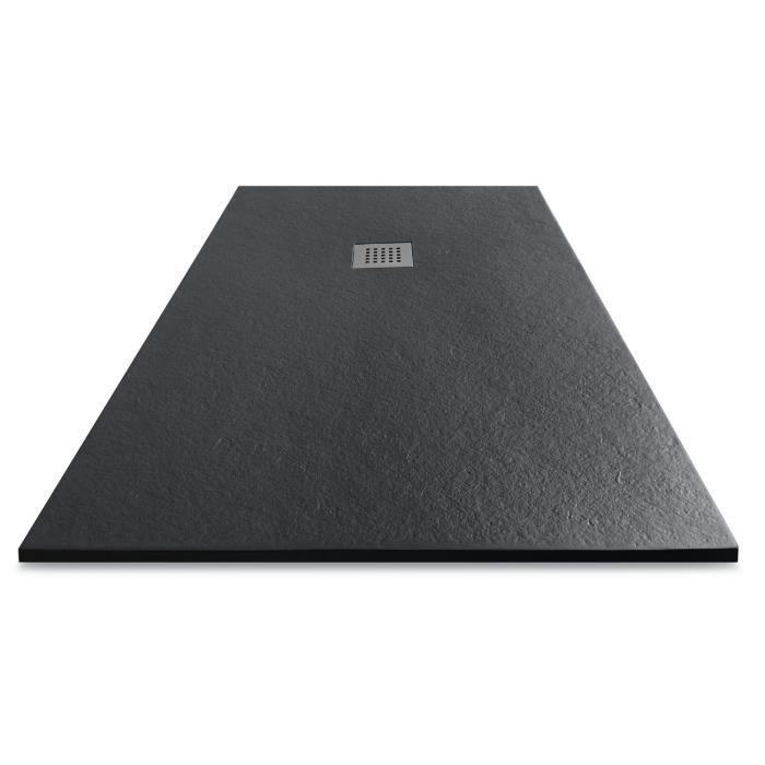 MITOLA Receveur en résine composite LIWA 100x80 anthracite - Achat / Vente receveur de douche Receveur résine 100x80 anthra - Cadeaux de Noël Cdiscount