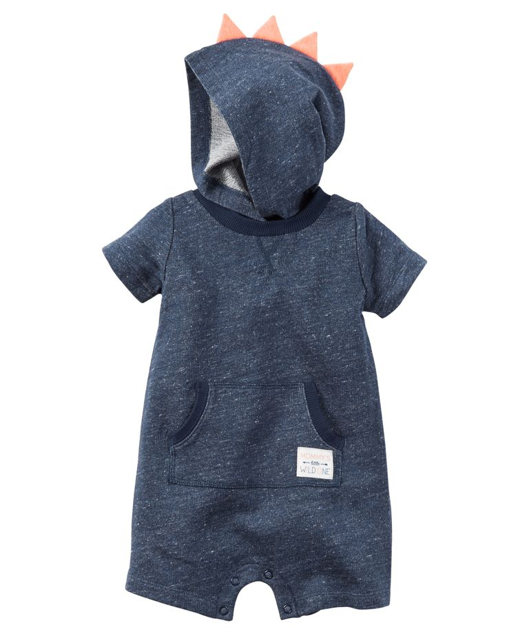 Baby Boy Hooded French Terry Romper   Carters.com