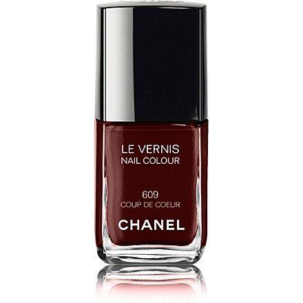 CHANEL LE VERNIS Nail Colour (Rouge noir) £18 @ Selfridges. Be a vamp like Mia Wallace in Pulp Fiction