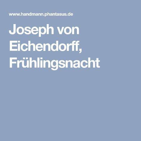 Joseph von Eichendorff, Frühlingsnacht