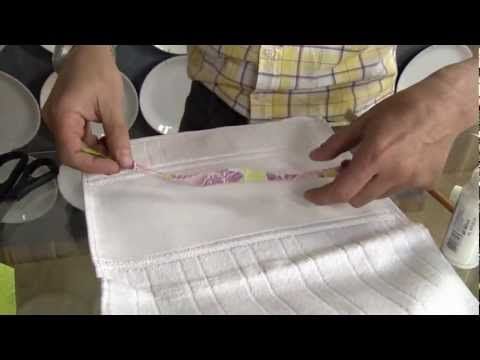 Decoupage em toalha de lavabo e em sabonete - parte 1 - YouTube