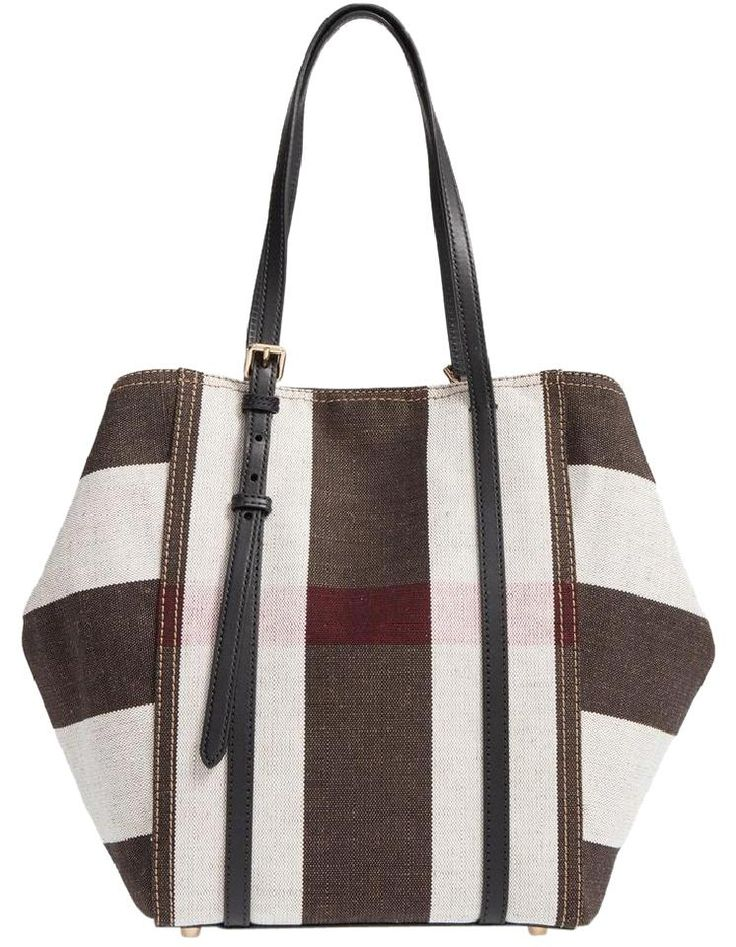 Burberry London Grain House Check Horseferry Tote in Brown
