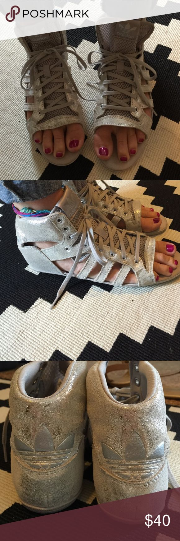 UK Adidas sleek series gladiator sandals - Silver These are awesome! Sold in the UK - Sleek series. adidas Shoes Athletic Shoes