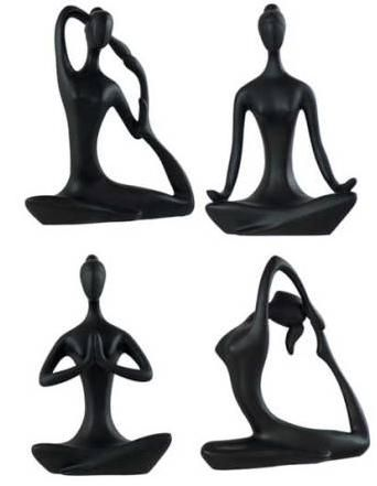 Yoga figurines for my yoga room. Could I make similar art for myself?