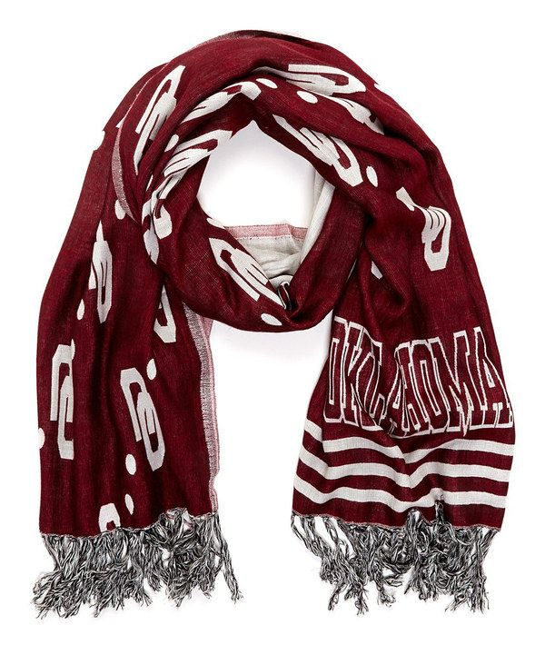 Oklahoma Sooners Fringe Scarf on zulily today!