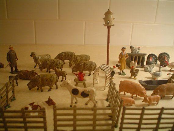 Britains J Hill Co Lead Farm Animals Lot  by lilypondvintage, $195.00
