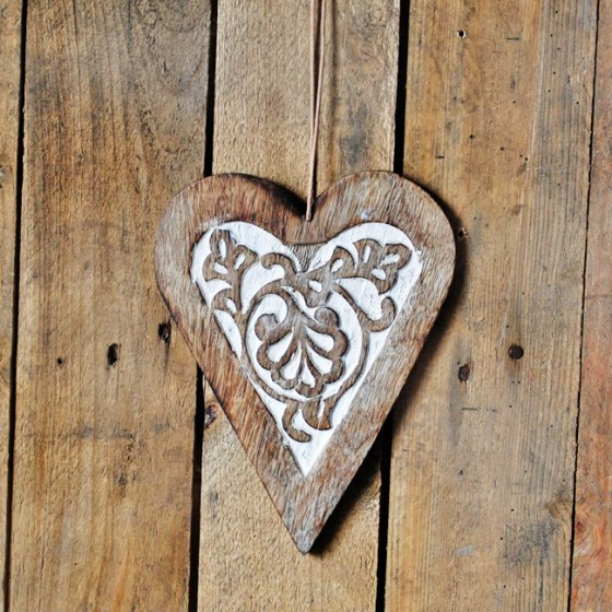 Carved Wooden Heart Hearts Milagro Corazones And Ex