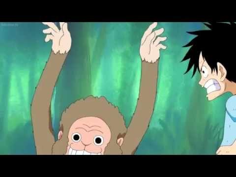 One piece : kid luffy training with monkeys (english dubbed) #1 - YouTube