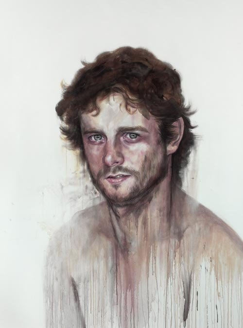 in relation to my watercolor portrait class pin.. this is Ben Quilty by Cherry Hood, probably her most recognisable work ♥