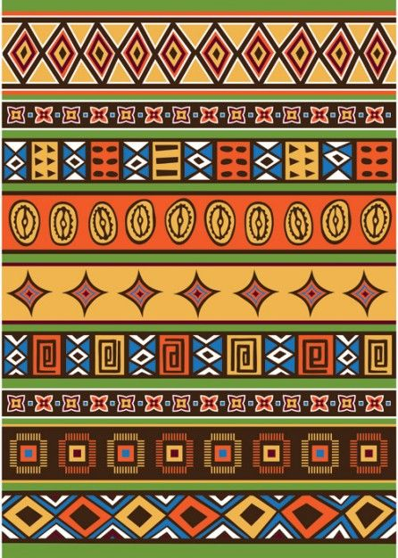 Ethnic African pattern, free for download: