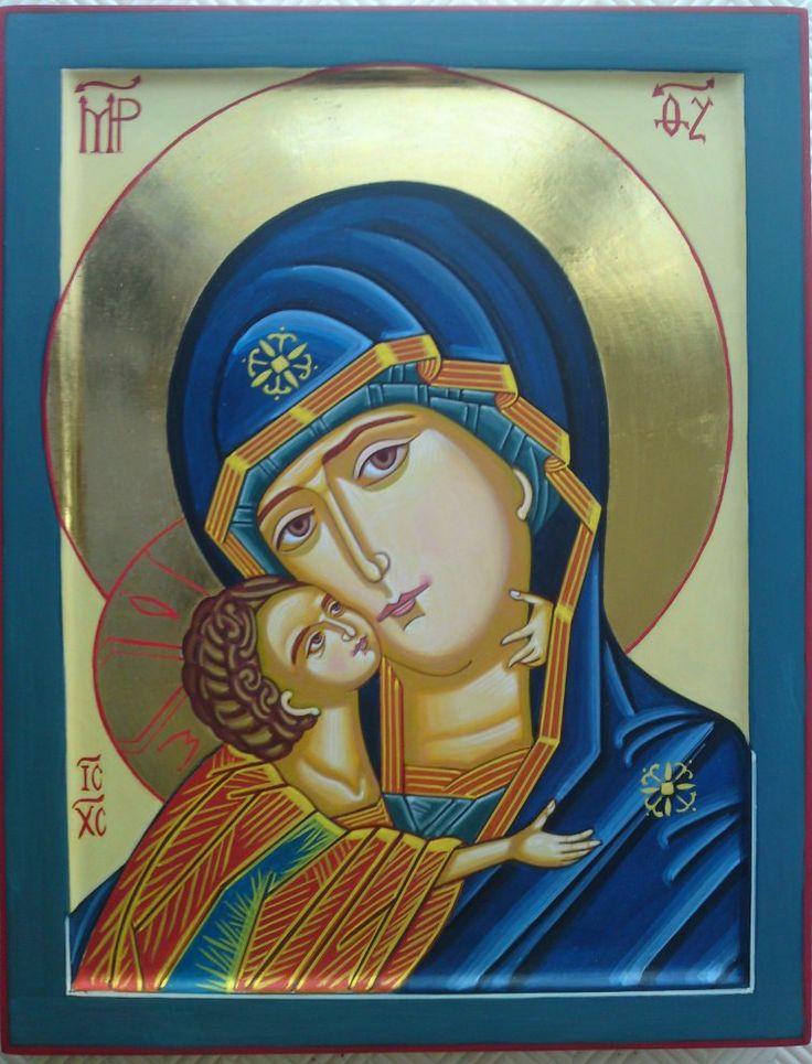 Theotokos in blue by Fr. Nicodemus