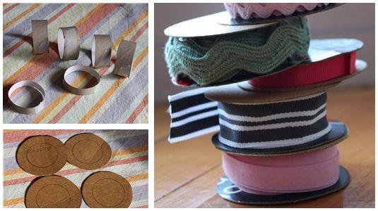 Idee per avvolgere e tenere in ordine filati, nastri e stoffe