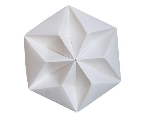 Snowpuppe, plafondkapje kroonuppe, wit