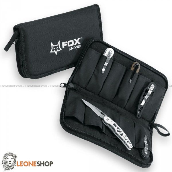 "FOX KNIVES Case for Knives FODF4, bags, cases and sheaths for knives, case of Balistic Nylon - Sizes 11"" x 7"" - Inside made of soft and refined material, zip closure - 11 knives pocket - FOX KNIVES case for knives really exceptional with quality materials, superior quality in all the components and also in the finishes."