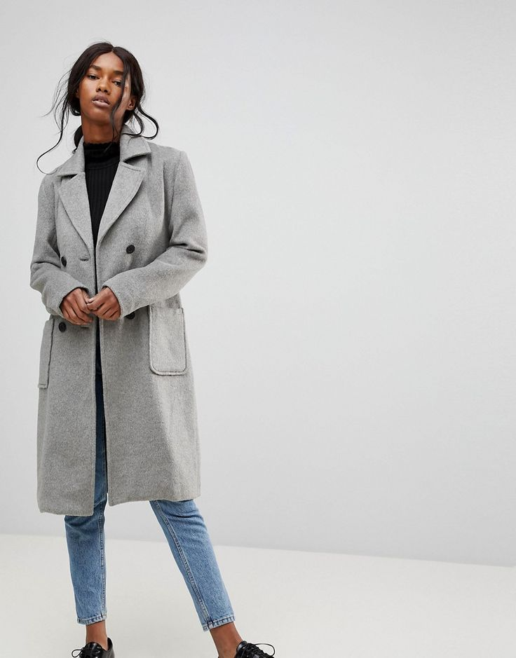 b.Young Classic Belted Coat - Gray