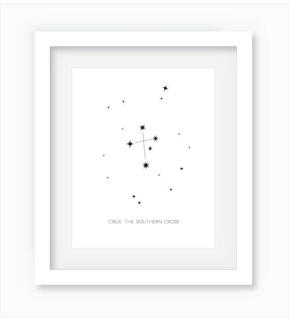 Southern Cross Constellation Wall Art by WandererCreative $5+ on Etsy