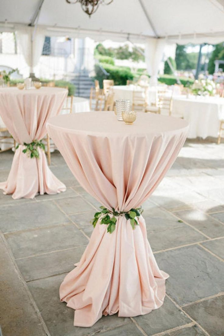 Blush Tablecloth Cocktail table 120 Round | Etsy #gardenwedding – garden wedding