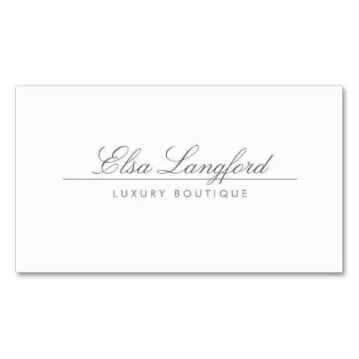 18 best cute business cards images on pinterest business cards modern white luxury boutique business card reheart Choice Image