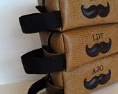 Personalized Mens Toiletry Bag Mustache HANDMADE Wedding Shaving Kit Custom Groomsmen Gift Groomsman Gift Groom Ushers. $40.00, via Etsy.