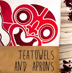 Awesome range of New Zealand teatowels and aprons at Global Culture. Tiki Teatowel.