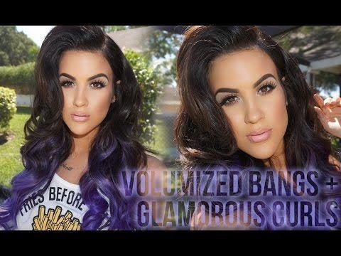 Volumized Bang + Glamorous Curls | Hair Tutorial – YouTube