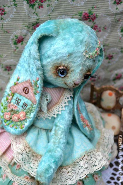 """Мишки Тедди ручной работы. Ярмарка Мастеров - ручная работа Плюшевая зайка """"Жаннет"""". Handmade."""