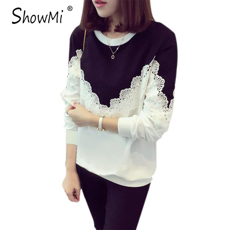 ShowMi Women Hoodies Sweatshirts 2017 Spring Autumn Thin White Grey Patchwork Crochet Plus Size 4XL Long Sleeve Lace Hoodies