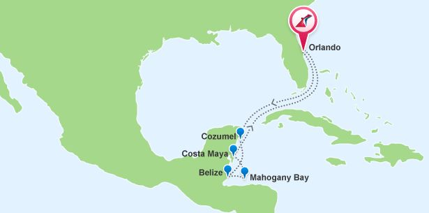 Where Is Mahogany Bay Isla Roatan On The Map Cruises