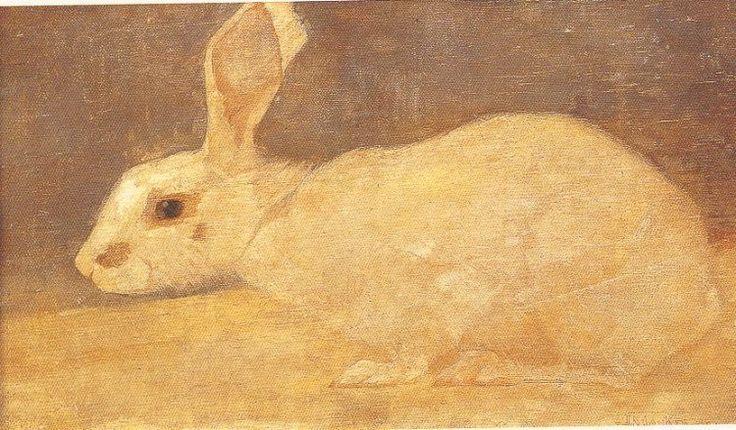 Jan Mankes – Wit konijn, 1909, Olieverf/doek, 170x295 mm   Centraal Museum