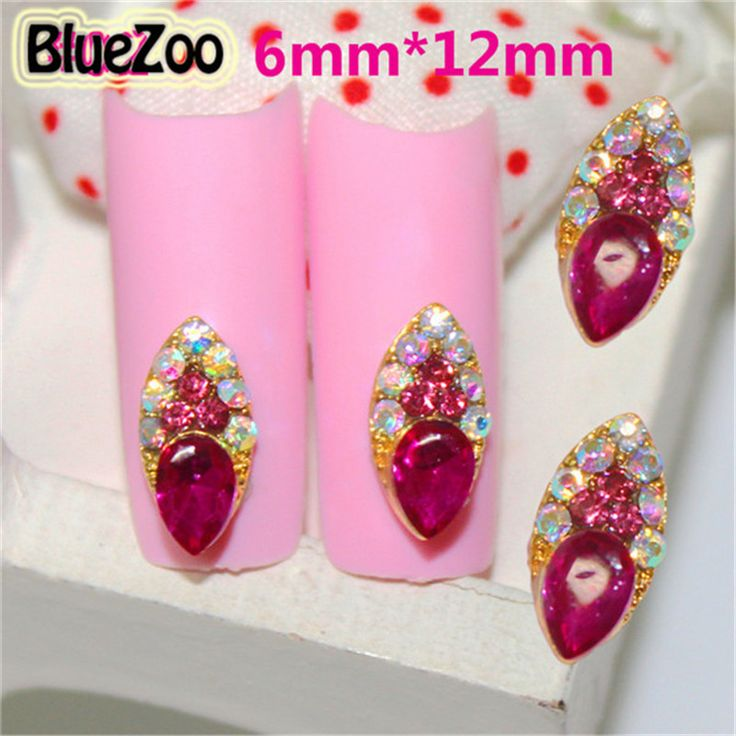BlueZoo 10pcs/pack Alloy All For Nail Art Supplies Nail 3d Decoration Rhinestone Charm Jewelry Beauty Tips Makeup Accessories