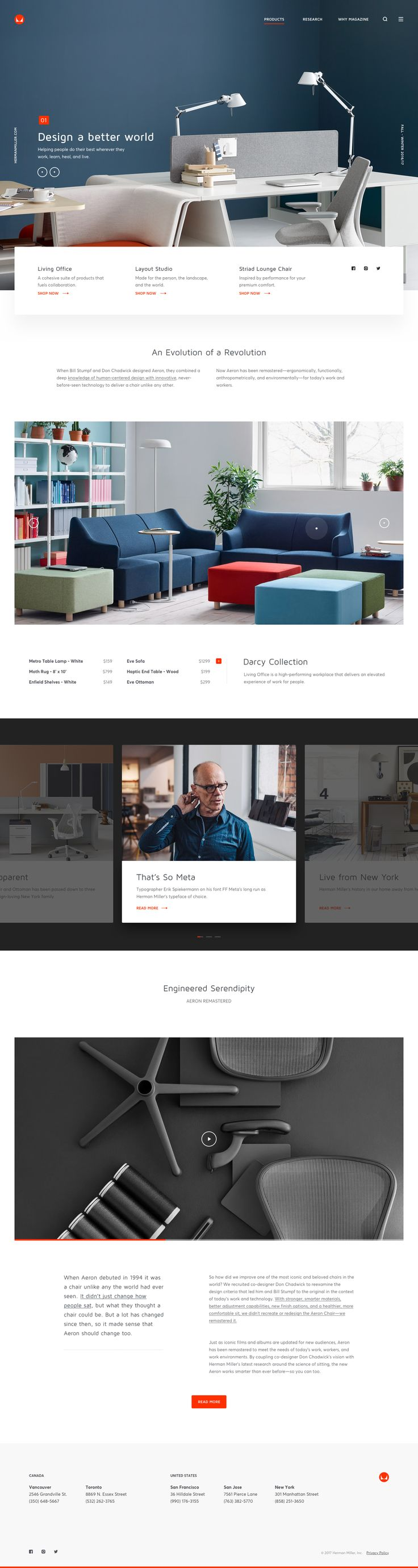 Herman Miller - Home 1.0 by Andrew Baygulov | dribbble