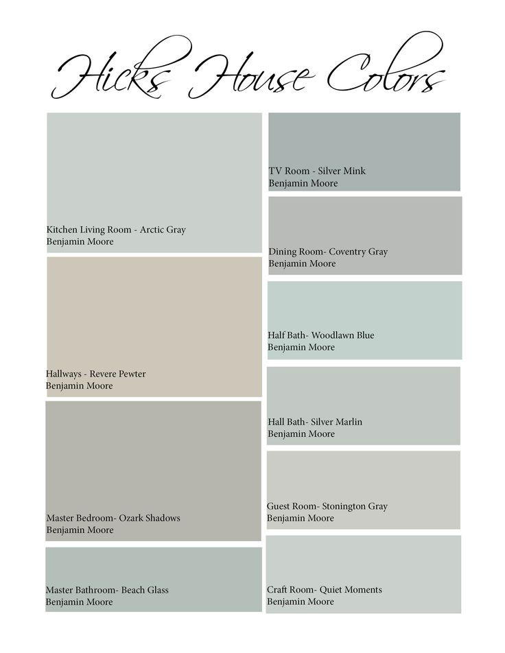 My Favorite Paint BM Revere Pewter HT Interior Color Palette Ideas For The Entire House Via Hicks