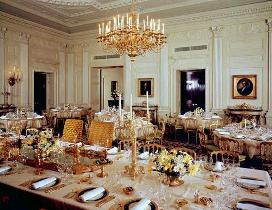 The State Dining Room Today With Tables Set For 120 The