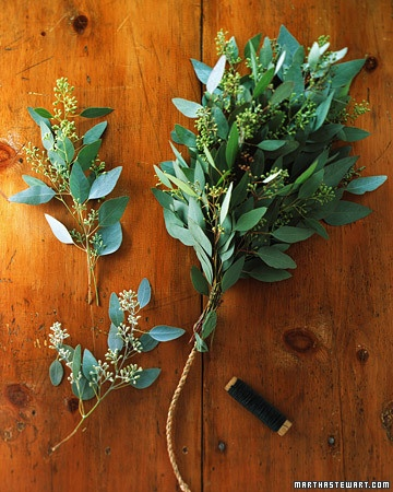 Condition Greenery:  Before making wreaths or garlands, fill buckets with room-temperature water. Using a hand pruner, make diagonal cuts through stems, then gently crush the exposed end with a small hammer. Set in the water for a few hours before working with the plants