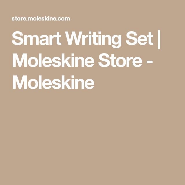 Smart Writing Set | Moleskine Store - Moleskine