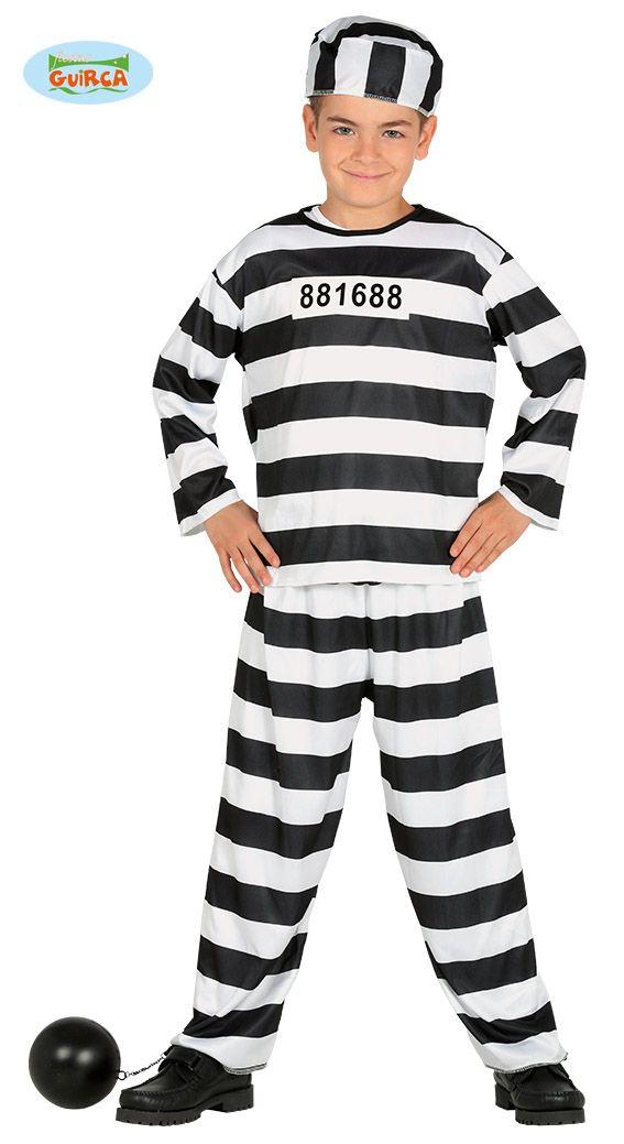 Baby /& Toddler Bad Baby Convict Prisoner Halloween Fancy Dress Costume