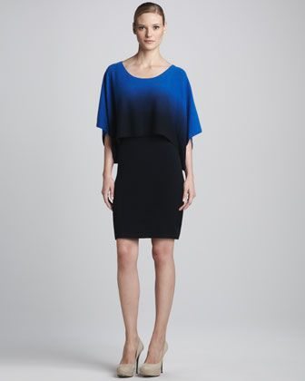 Drop-Waist Ombre Cashmere Dress by in CASHMERE at Neiman Marcus.