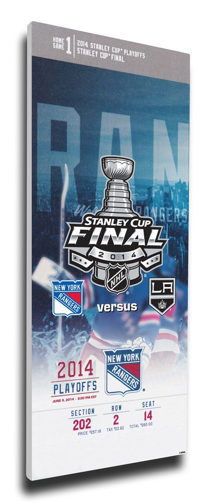 2014 NHL Stanley Cup Final Mega Ticket - New York Rangers #ThatsMyTicket #NewYorkRangers
