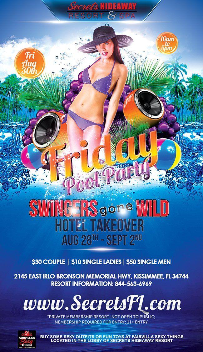Swinger pool party