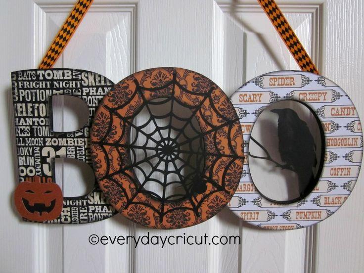 Home Decor Boo Sign by Everyday Cricut